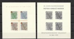 Franz Zone Baden Nachdruck+Schwarzdruck Des Block 1  1979 - Franse Zone