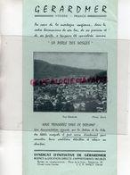 88- GERARDMER-DEPLIANT TOURISTIQUE TARIF HOTELS ET PENSIONS FAMILLE ETE 1958- IMPRIMERIE CHEVROTON - Dépliants Turistici