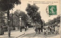 93 AUBERVILLIERS Entrée Du Square  Avenue De La République - Aubervilliers