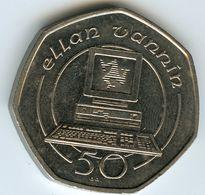 Ile De Man Isle 50 Pence 1989 AA Ordinateur Computer KM 212 - Isle Of Man
