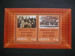 Centenary Of Public Perfomance # Lietuva Litauen Lituanie Litouwen Lithuania 1999 MNH # Mi. 702/3 Block 16 - Lithuania