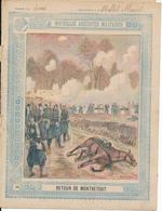 Couverture De Cahier - Nouvelles Anecdotes Militaires, Retour De Montretout - Schuehmacher - Protège-cahiers