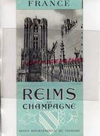 51- REIMS- DEPLIANT TOURISTIQUE EN CHAMPAGNE-OFFICE TOURISME- CLICHE BOCQUET-POMMERY - Dépliants Turistici