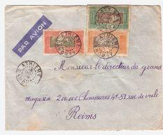 4 Cachets -ATHIENE 18 OCT 38 - Sur 3 Timbres AOF- DAHOMEY N° 88/58 ET 70 - Lettre PAR AVION Pour La FRANCE  VOIR 2 SCANS - Dahomey (1899-1944)