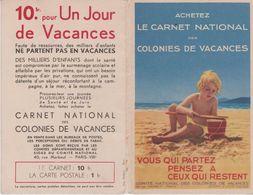 Carnet  Nal Colonies Vacances 3 Volets  Ill.G. REDON+ Pubs : Loterie Nale (Ill. A. GIROUX)+ Ovomaltine, Dunlop, L.S.K. - Health