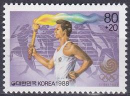 Korea Südkorea 1988 Sport Spiele Olympia Olympics Seoul Fackelläufer Torch, Mi. 1559 ** - Korea (Süd-)