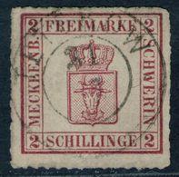 Teterow Auf 2 Shillinge Magenta - Schwerin Nr. 6 A - Kabinett - Mecklenburg-Schwerin