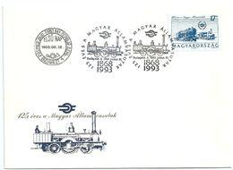 8887 Hungary FDC Transport Railways Locomotive Economy Company - Treni