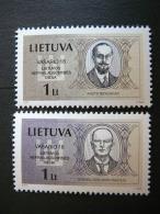 Lithuania's Independence Day # Lietuva Litauen Lituanie Litouwen Lithuania 2002 MNH # Mi. 781/2 Famous People - Lithuania