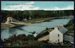 RB 1185 - Early Postcard Union Chain Bridge Berwick-on-Tweed Berwickshire Scotland England - Berwickshire