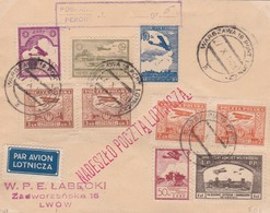 Lettre Wargzawa - Lwow 1928 - Luftpost