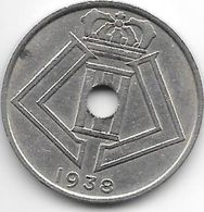 Belguim Leopold III 25 Centimes 1938 French  Xf - 1934-1945: Leopold III