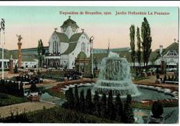 Exposition De Bruxelles  1910  Jardin Hollandais - Expositions Universelles
