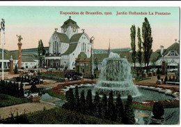 Exposition De Bruxelles  1910  Jardin Hollandais - Wereldtentoonstellingen