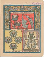 Couverture De Cahier - Pour Nos Petits Dessinateurs, Chardon... - Godchaux - Book Covers