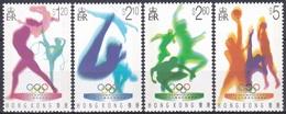 Hongkong 1996 Sport Spiele Olympia Olympics Atlanta Gymnastik Leichtathletik Basketball, Mi. 762-5 Aa ** - Hong Kong (...-1997)