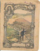Couverture De Cahier - Fables De La Fontaine, Le Charretier Embourbé - Godchaux - Protège-cahiers