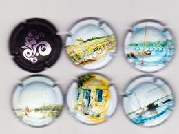 6 Capsules Muselets 6 Vouvray Dont 5 Cancen Avec URL - Capsules & Plaques De Muselet