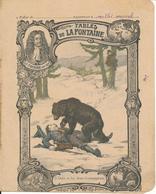 Couverture De Cahier - Fables De La Fontaine, L'Ours Et Les Deux Compagnons - Godchaux - Book Covers