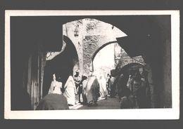 Tanger - Carte Photo Originale Cachet Garcia Cortes - Scène à Tanger / Souk - Animée - Dos Blanc - Tanger