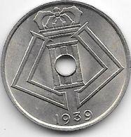 Belguim Leopold III 25 Centimes 1939 French  Unc - 1934-1945: Leopold III