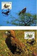 MACEDOINE. N°211-4 Sur 4 Cartes Maximum De 2001. WWF Aigle Impérial. - Eagles & Birds Of Prey