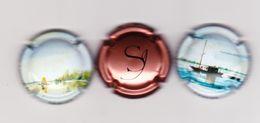 3 Capsules Muselets 1 Champagne Sanger 2 Vouvray Cancen Avec URL - Capsules & Plaques De Muselet