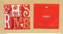 Etiquette Cadeau HERMES * 7,5 X 7,5 Cm * Noel Xmas 2016 * R/V - Cartes Parfumées