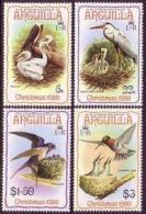 Anguilla, 1980, Christmas, Birds, Animals, Fauna, MNH, Michel 396-399 - Anguilla (1968-...)