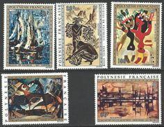 """Polynésie Aerien Yt 65 à 69 (PA) """" Tableaux """" 1972 Neuf* - Airmail"""