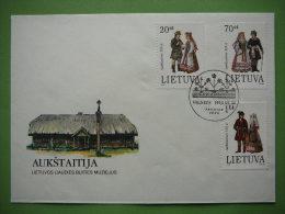 FDC - National Costumes Aukstaitija # Lietuva Lithuania Litauen Lituanie Litouwen 1995 - Lithuania