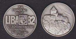 Liechtenstein 1982 Liba '82 Commemorative Medal - Tokens & Medals