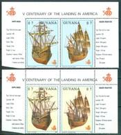 1988 Guiana Guyana Colombo Navi Velieri Sailing Ships Bateaux à Voile Set MNH** Fiog35 - Guiana (1966-...)