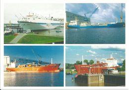 4-Bild-Postkarte MEYER-Werft / Tank- Und Spezialschiffe - Tanker