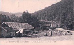 France 88, Le Breuil Près Plombières, Scierie Dans La Vallée Des Roches (70) Petit Pli D'angle - Plombieres Les Bains