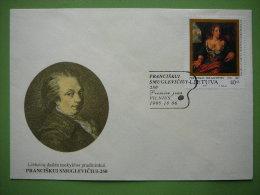 FDC - 250th Birthday Of P.Smuglevicius. Painting. Art # Lietuva Lithuania Litauen Lituanie Litouwen 1995 - Lithuania