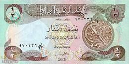 IRAQ 1/2 DINAR 1980 PICK 68a UNC - Iraq