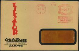 1929, Attraktiver Werbebrief Mit Seltenem Absenderfreistempel Ab ELBING - Reklame, Advertisment - Covers
