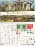 USA Undefranked AirMailPPC W.DC 6jun1968 To Italy Taxed C.6 With P.Due L.20 Gorizia - Postage Due