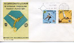 SPAIN -   1971 European Gymnastics Championships, Madrid  FDC3448 - FDC