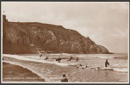 Surf Bathing, Droskyn Point, Perranporth, Cornwall, C.1930s - RP Postcard - England