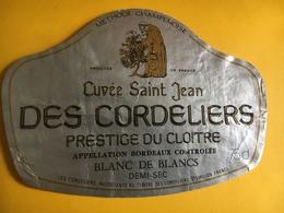 6530 - Cuvée St-Jean Des Cordeliers Prestige Du Cloître Blanc De Blancs - Bordeaux