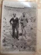 Foto Con Militare E Marinaio Wwii - Guerre, Militaire