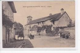 87 SAINT HILAIRE BONNEVAL L'eglise , Charette Dans La Rue - France