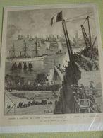 STATUE DE LA LIBERTÉ ARRIVANT À NEW-YORK,JUIN 1885 -gravure De Presse D'époque .BARTHOLDI Sculpteur. - Estampes & Gravures