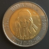 Micronésie  Micronésia..$1.. 2011..pape Jean Paul II,  2 Ieme Type (étoiles)..bimetallic / Bimetal - Micronesia
