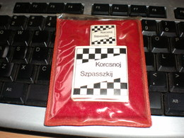 Chess Sah Sak Small Book Hungary Korcsnoj Szpasszki 2 Books Small - Otros