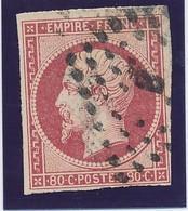 """80 C Rose N° 17 B Paris Bureau """"B"""" Gd Logt TB. - 1853-1860 Napoléon III"""