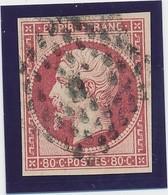 """80 C Rose N° 17 B Paris Bureau """"D"""" Gd Logt TB. - 1853-1860 Napoléon III"""