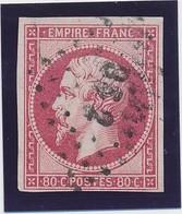 "80 C Rose Vif N° 17 B Paris Bureau ""BS 2"" TB. - 1853-1860 Napoléon III"
